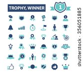 award trophy  achievement ... | Shutterstock .eps vector #356051885