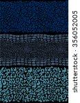 seamless animal skin striped... | Shutterstock . vector #356052005