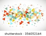 abstract modern triangle... | Shutterstock . vector #356052164