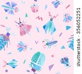 seamless pattern with cute... | Shutterstock . vector #356052251