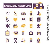 emergency medicine  icons ... | Shutterstock .eps vector #356054741