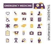 emergency medicine  icons ... | Shutterstock .eps vector #356054741