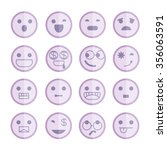 emoticon icons | Shutterstock .eps vector #356063591