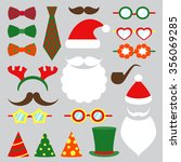 christmas photo booth set | Shutterstock . vector #356069285