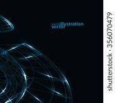 abstract technology  vector...   Shutterstock .eps vector #356070479