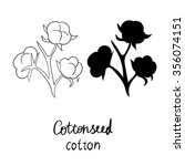 vector hand drawn set with... | Shutterstock .eps vector #356074151