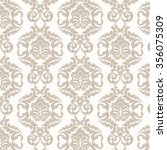 damask luxury ornament pattern. ... | Shutterstock .eps vector #356075309