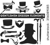 gentleman design elements set.... | Shutterstock .eps vector #356089085