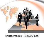 illustration of business people | Shutterstock .eps vector #35609125