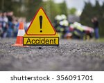 road accident | Shutterstock . vector #356091701