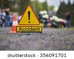 road accident | Shutterstock . vector #356091701