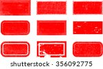 grunge post stamps collection ... | Shutterstock .eps vector #356092775
