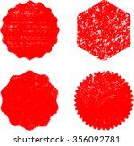 grunge post stamps collection ... | Shutterstock .eps vector #356092781