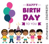 happy birthday  concept with... | Shutterstock .eps vector #356098391
