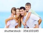 beach. | Shutterstock . vector #356103185
