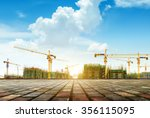 crane and building construction ... | Shutterstock . vector #356115095