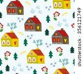 christmas vector seamless... | Shutterstock .eps vector #356121749