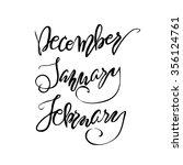winter month lettering. hand... | Shutterstock .eps vector #356124761