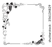 decorative black square frame... | Shutterstock .eps vector #356134829