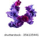 two drops of color merged under ... | Shutterstock . vector #356135441
