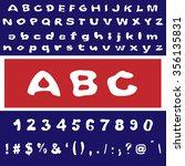 english font set. alphabet ... | Shutterstock .eps vector #356135831