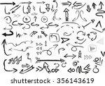vector set of hand drawn sketch ... | Shutterstock .eps vector #356143619