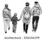 family strolling | Shutterstock . vector #356146199