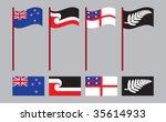 new zealand and maori flags | Shutterstock .eps vector #35614933