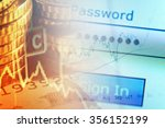 finance background with chart... | Shutterstock . vector #356152199