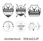 set of vintage hunting labels ... | Shutterstock . vector #356162129