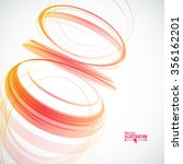 abstract spiral on white...   Shutterstock .eps vector #356162201