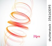 abstract spiral on white...   Shutterstock .eps vector #356163095