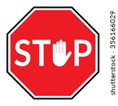 stop sign. traffic stop sign... | Shutterstock . vector #356166029
