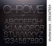 thin chrome font. vector... | Shutterstock .eps vector #356167814