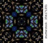 kaleidoscopic wallpaper tiles | Shutterstock . vector #356171351