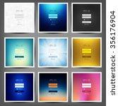 member login flat design set