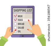 shopping list. application for... | Shutterstock .eps vector #356188547