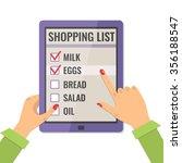 shopping list. application for... | Shutterstock .eps vector #356188547
