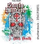 grunge sugar skull | Shutterstock .eps vector #356193851
