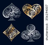 set of four vector playing card ... | Shutterstock .eps vector #356194007
