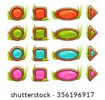 cartoon buttons with colorful...