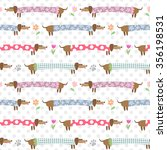 seamless pattern with cute... | Shutterstock .eps vector #356198531