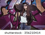 fashion skater girl | Shutterstock . vector #356210414