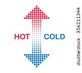 hot and cold arrows | Shutterstock .eps vector #356211344