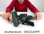 conceptual creative repair the... | Shutterstock . vector #356216099