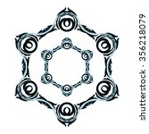circular ornament black with...   Shutterstock .eps vector #356218079