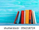 stack of colorful books  grungy ... | Shutterstock . vector #356218724