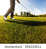 golf swing on the course.... | Shutterstock . vector #356223011