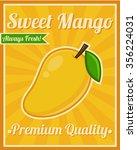 mango poster   Shutterstock .eps vector #356224031