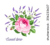single rose card. gentle... | Shutterstock .eps vector #356233637